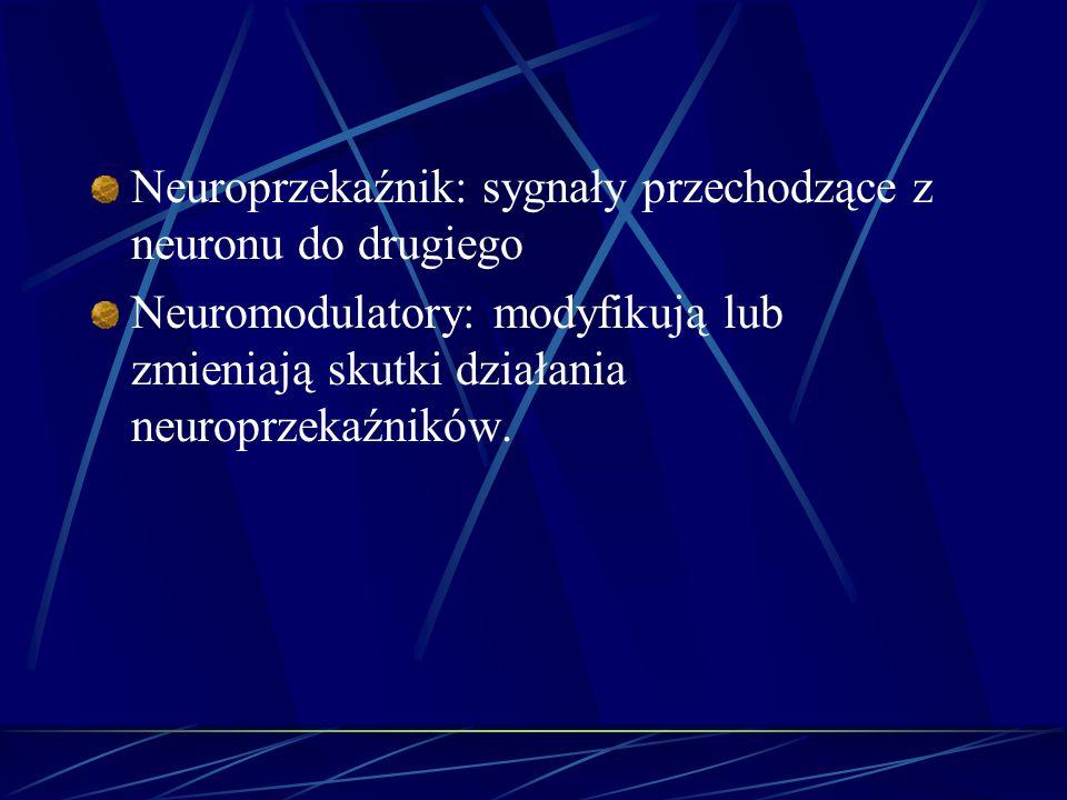 Neuroprzekaźnik: sygnały przechodzące z neuronu do drugiego