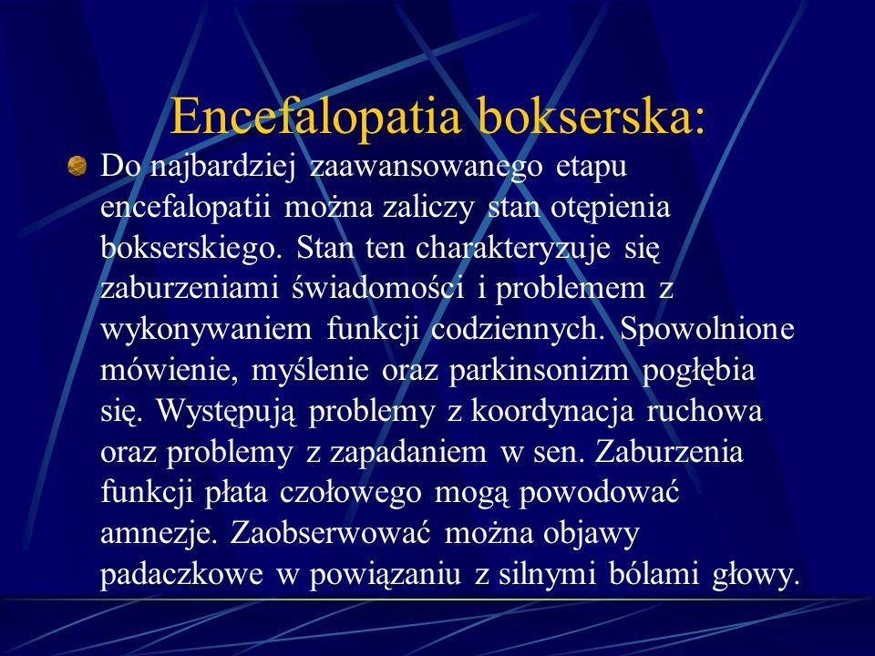 Encefalopatia bokserska: