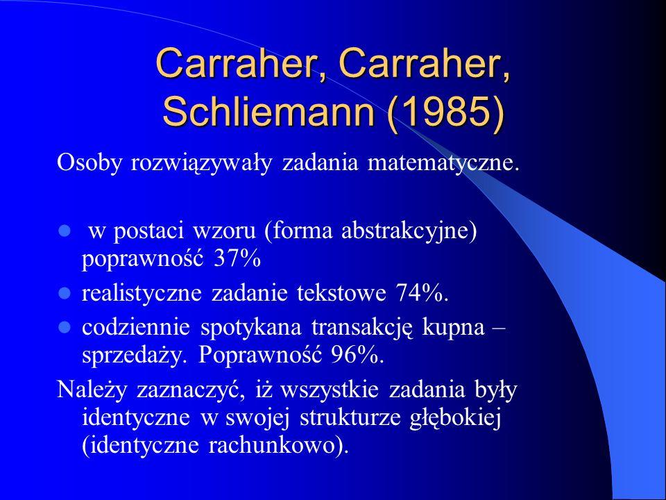 Carraher, Carraher, Schliemann (1985)