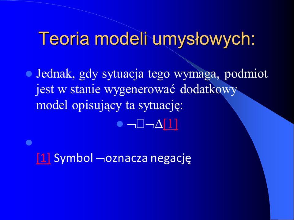 Teoria modeli umysłowych: