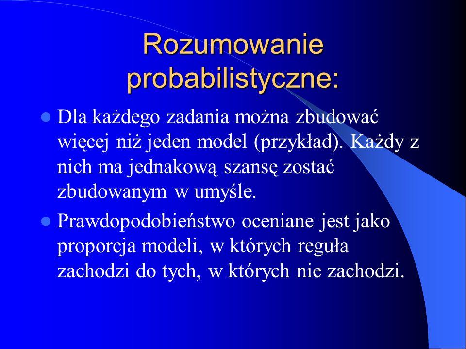 Rozumowanie probabilistyczne: