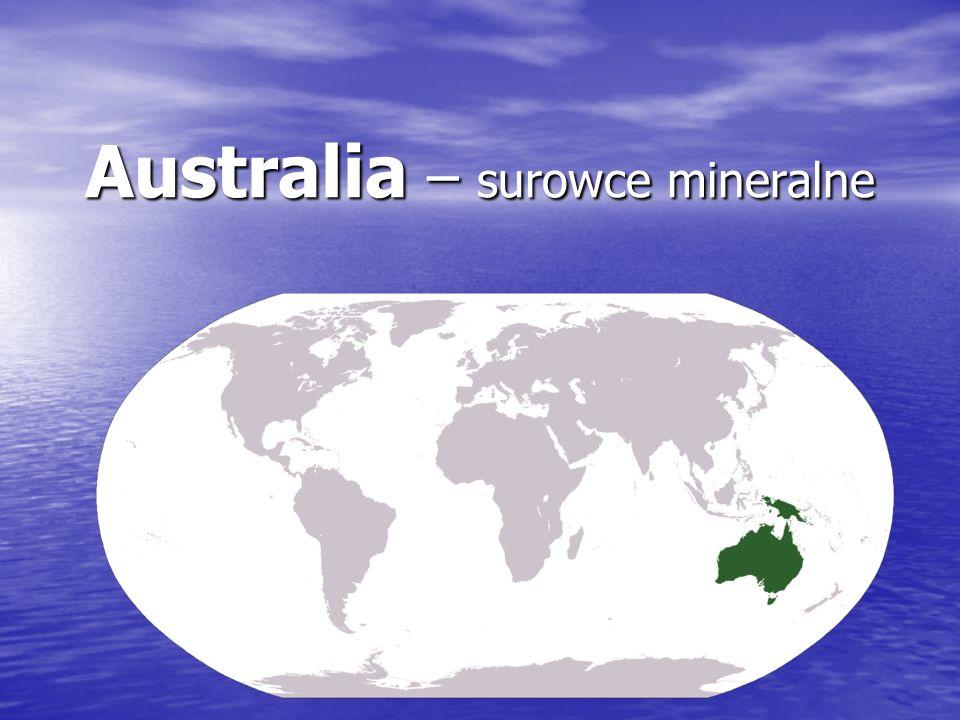 Australia – surowce mineralne