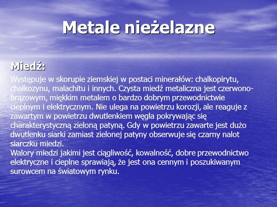 Metale nieżelazne Miedź: