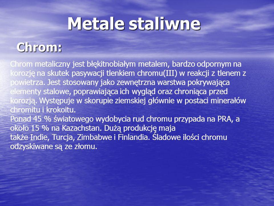 Metale staliwne Chrom: