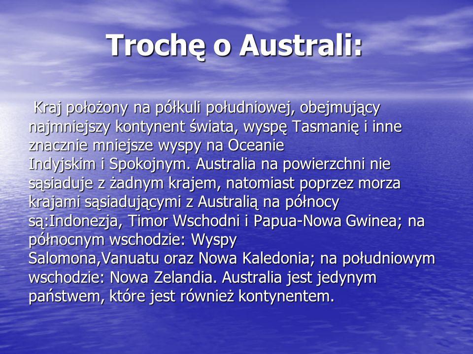 Trochę o Australi: Kraj położony na półkuli południowej, obejmujący