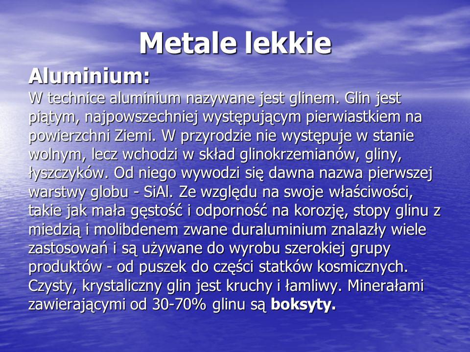 Metale lekkie Aluminium:
