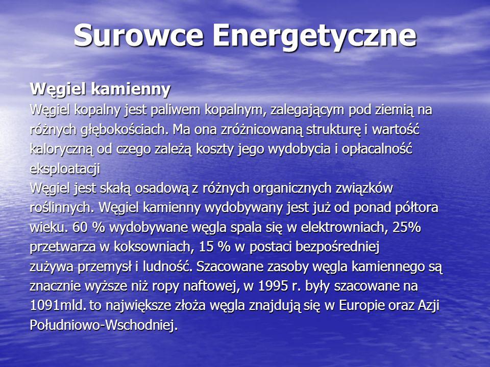 Surowce Energetyczne Węgiel kamienny
