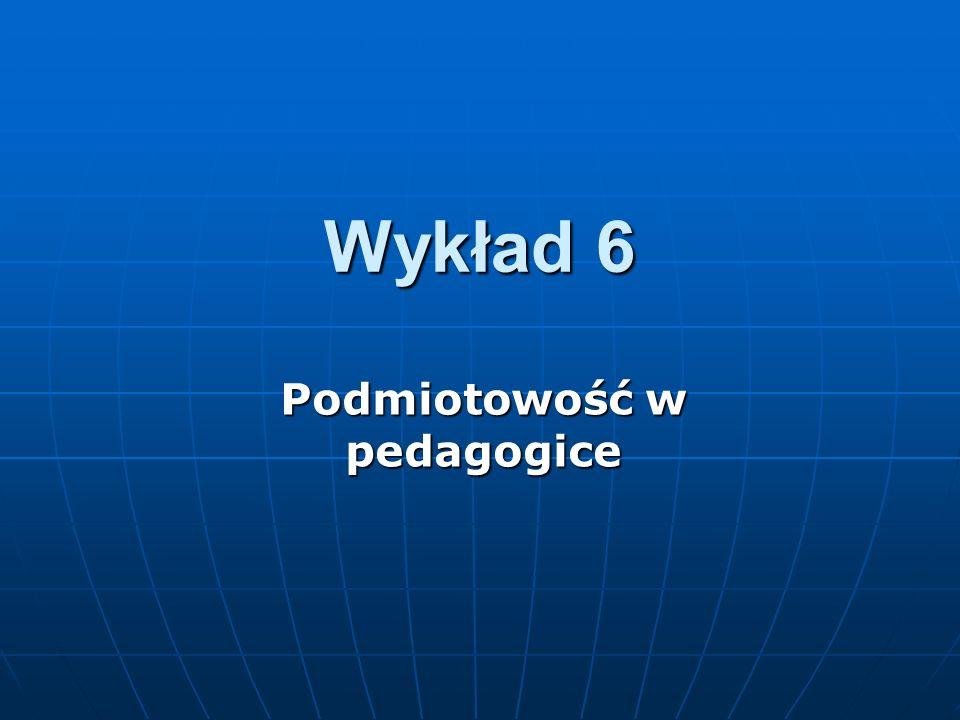 Podmiotowość w pedagogice