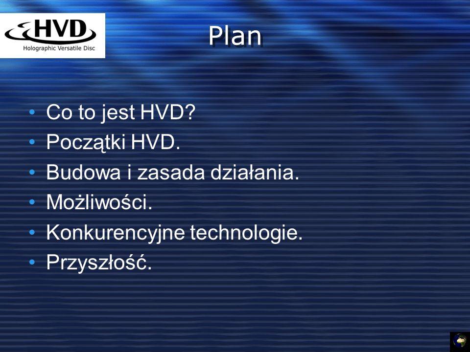 Plan Co to jest HVD Początki HVD. Budowa i zasada działania.