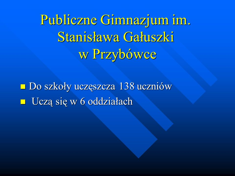 Publiczne Gimnazjum im. Stanisława Gałuszki w Przybówce