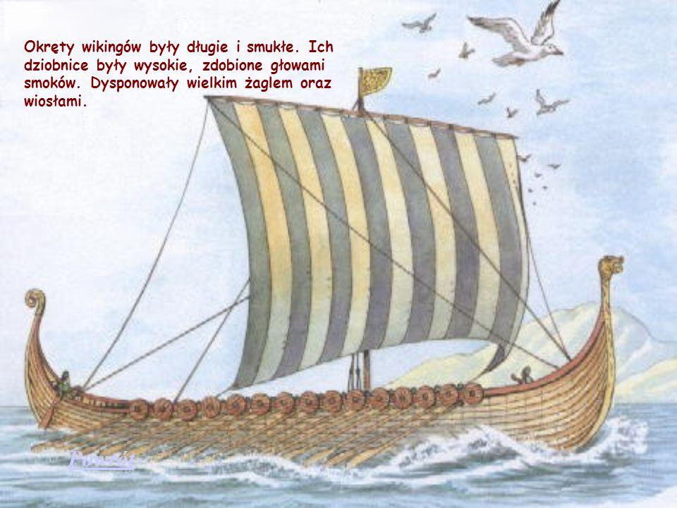 Okręty wikingów były długie i smukłe