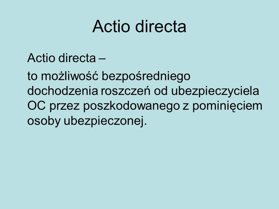 Actio directa Actio directa –