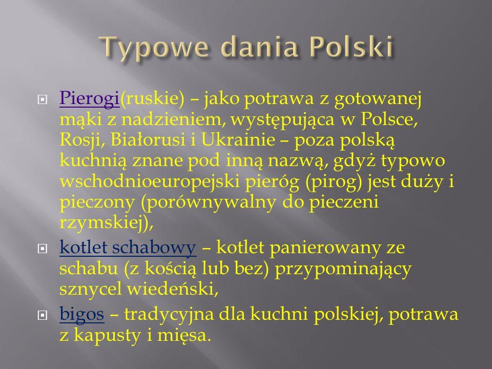 Typowe dania Polski