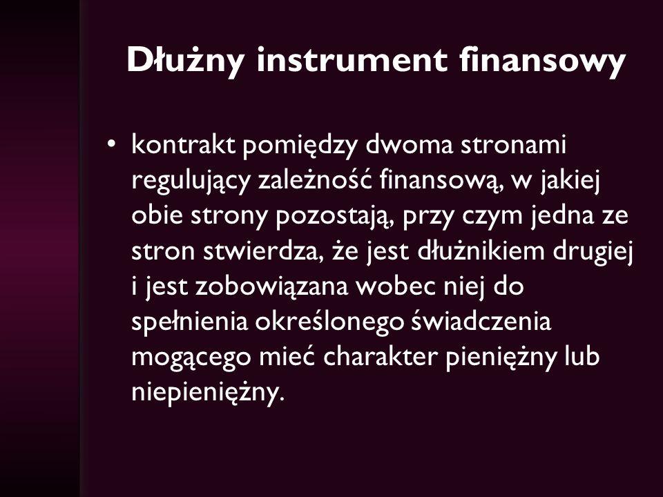 Dłużny instrument finansowy