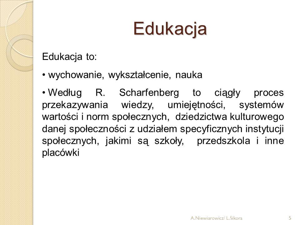 Edukacja Edukacja to: wychowanie, wykształcenie, nauka