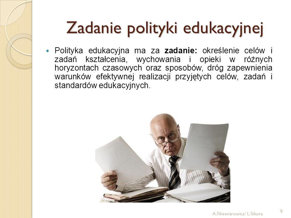 Zadanie polityki edukacyjnej