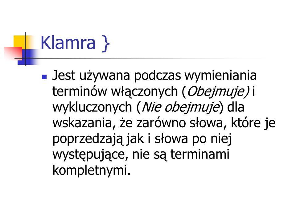 Klamra }