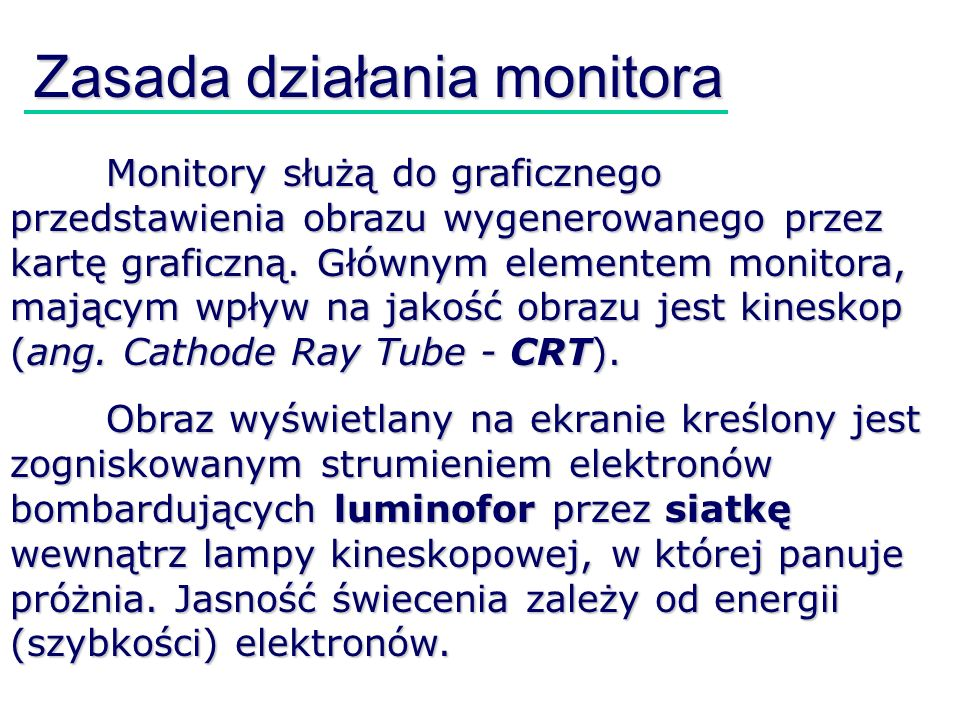 Zasada działania monitora