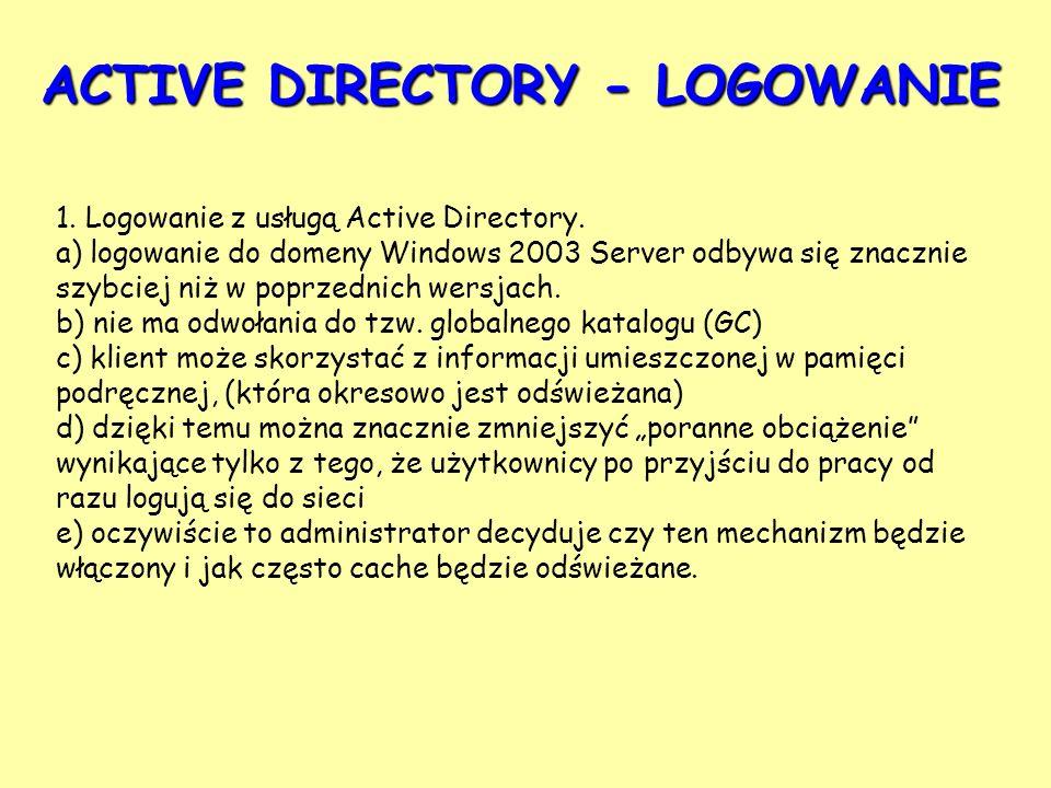 ACTIVE DIRECTORY - LOGOWANIE