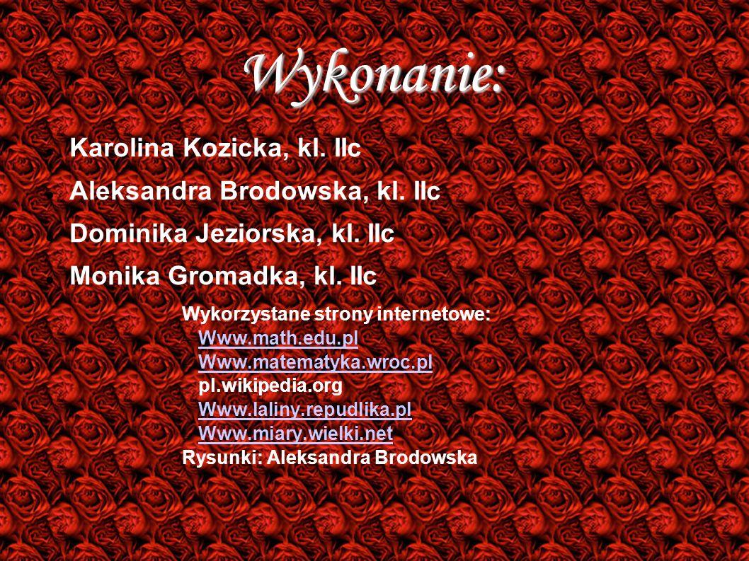 Wykonanie: Karolina Kozicka, kl. IIc Aleksandra Brodowska, kl. IIc