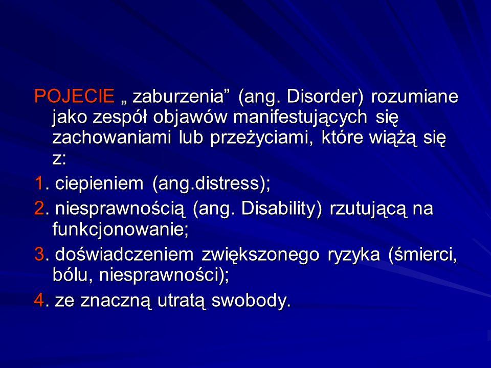 """POJECIE """" zaburzenia (ang"""