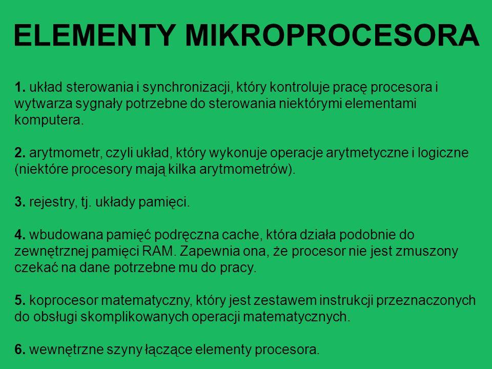 ELEMENTY MIKROPROCESORA