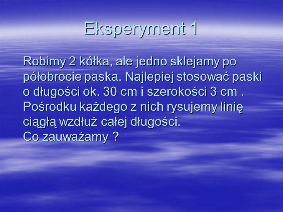 Eksperyment 1