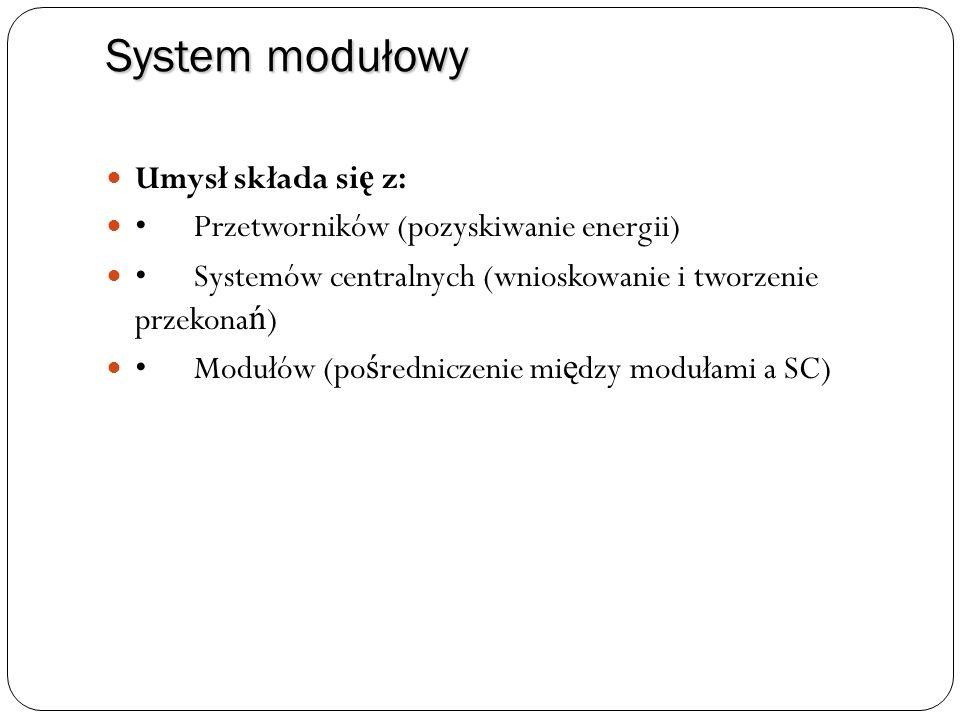 System modułowy Umysł składa się z: