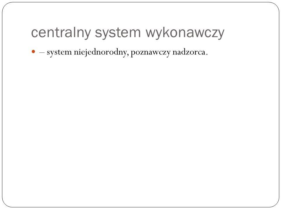 centralny system wykonawczy