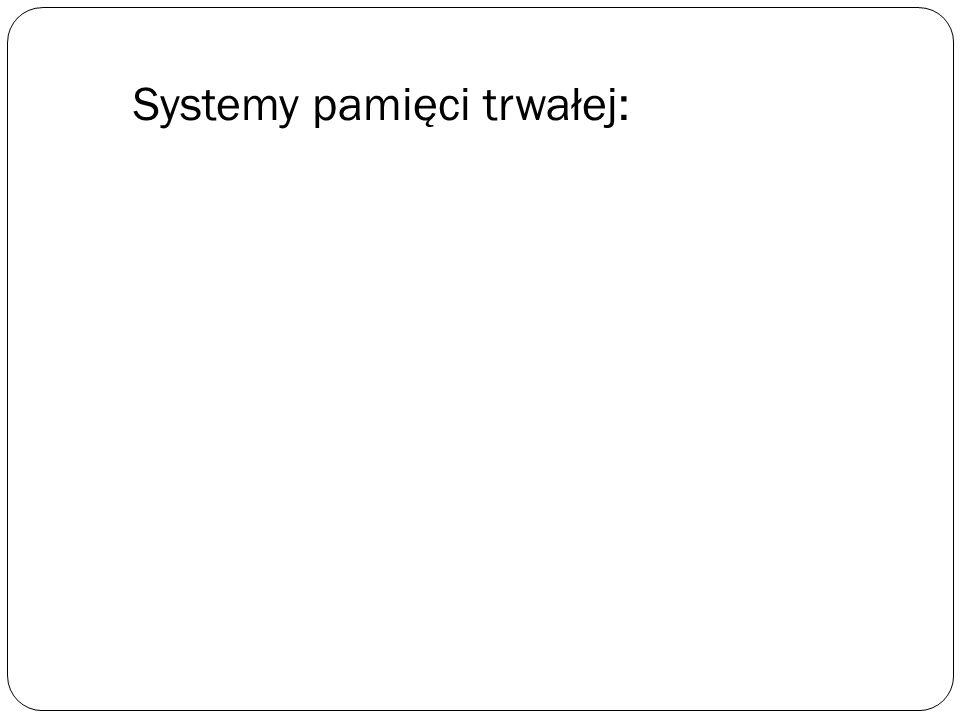 Systemy pamięci trwałej: