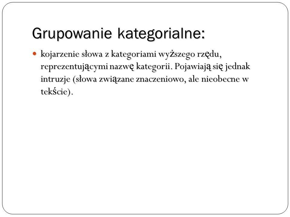 Grupowanie kategorialne:
