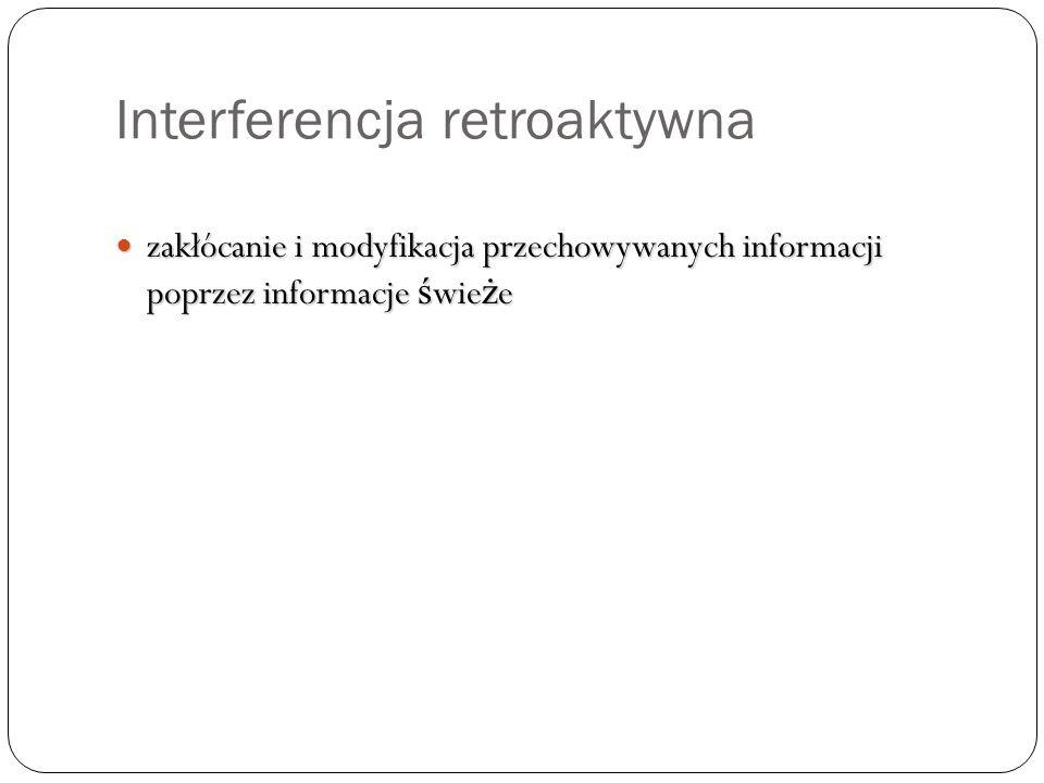Interferencja retroaktywna