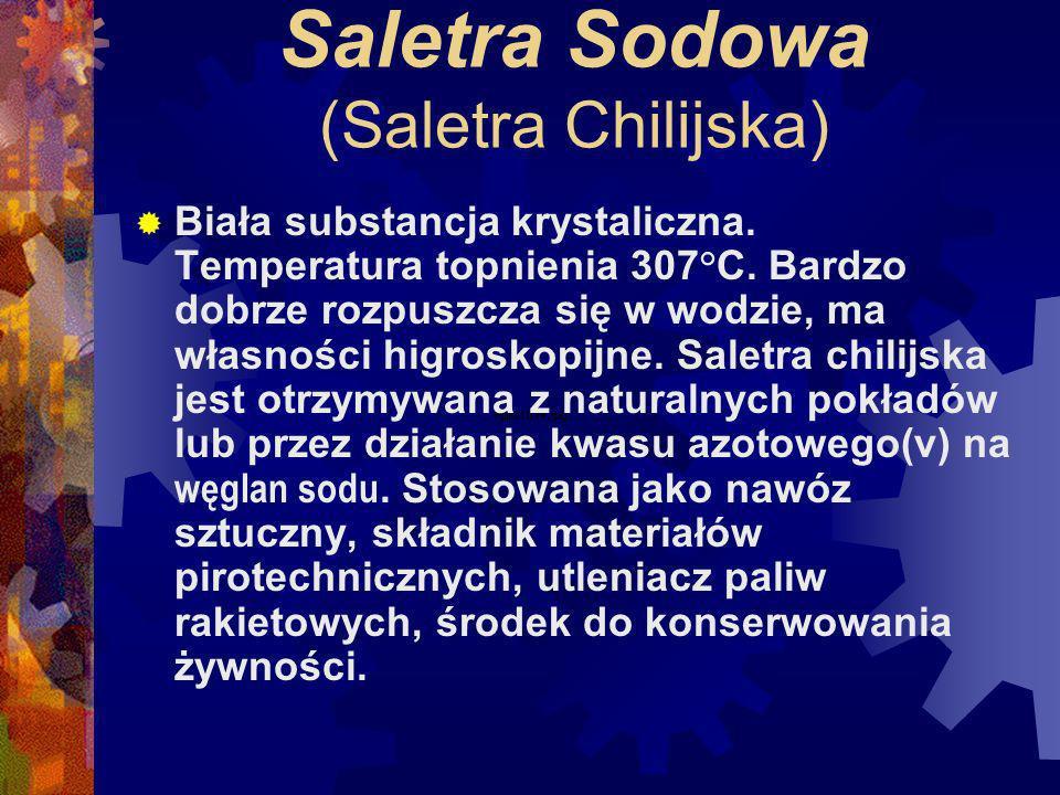 Saletra Sodowa (Saletra Chilijska)