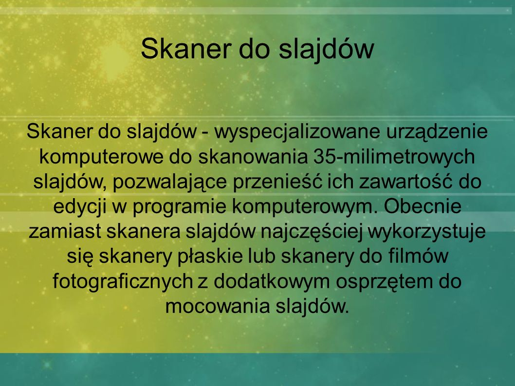 Skaner do slajdów