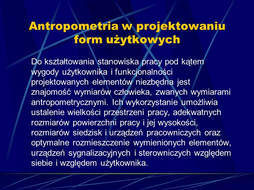 Antropometria w projektowaniu form użytkowych