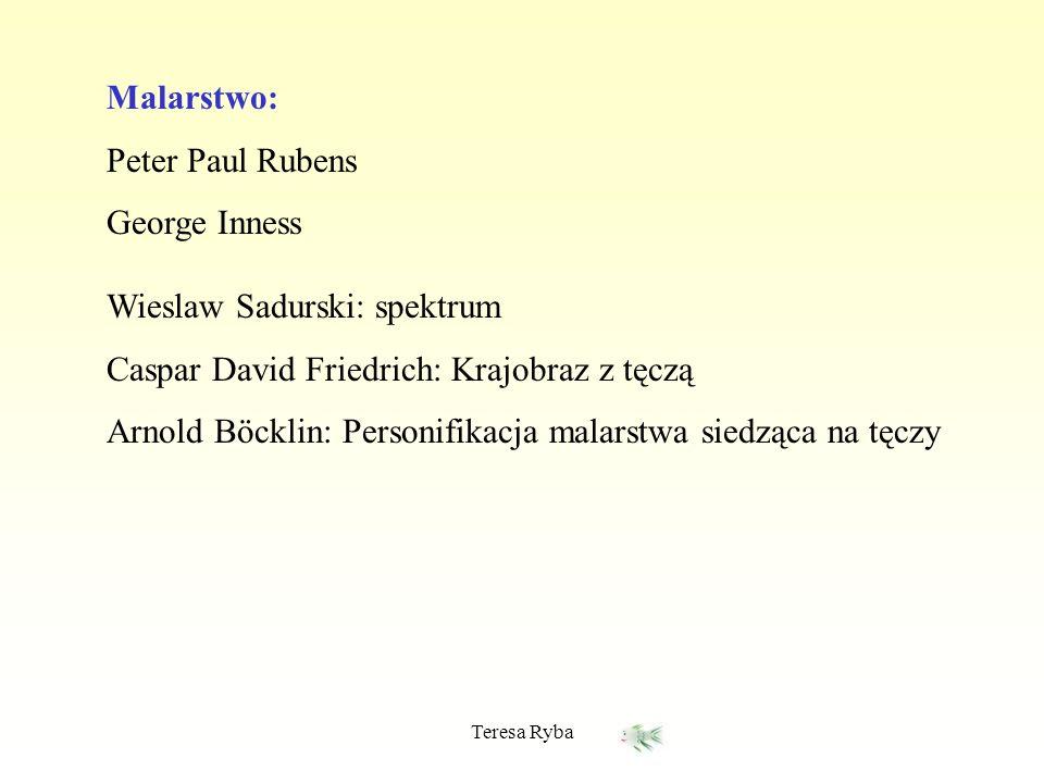 Wieslaw Sadurski: spektrum Caspar David Friedrich: Krajobraz z tęczą