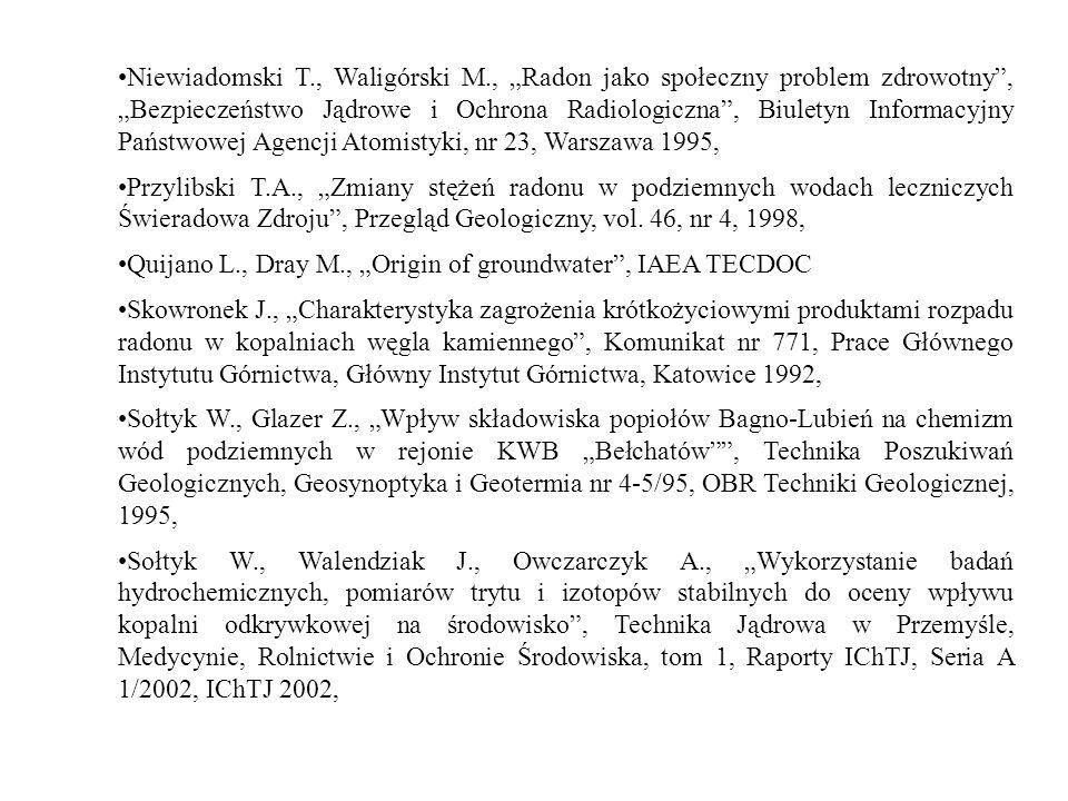 Niewiadomski T. , Waligórski M