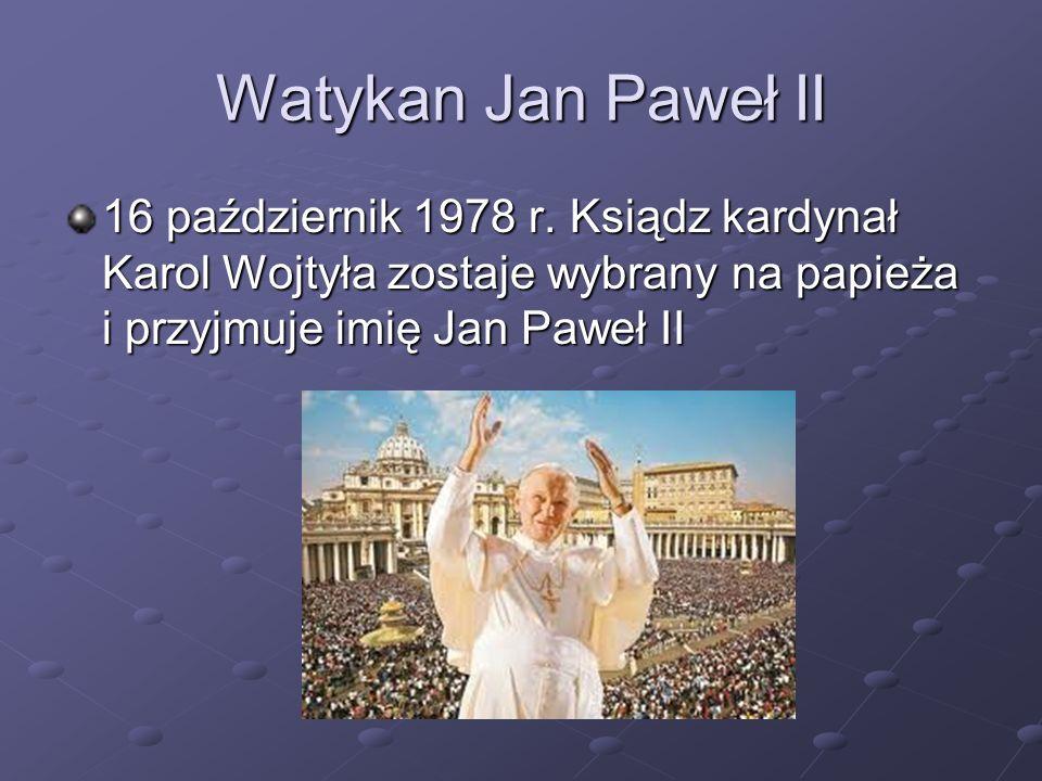 Watykan Jan Paweł II 16 październik 1978 r.