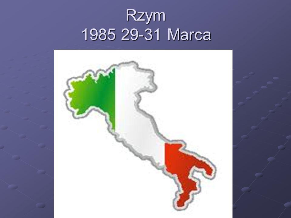 Rzym 1985 29-31 Marca