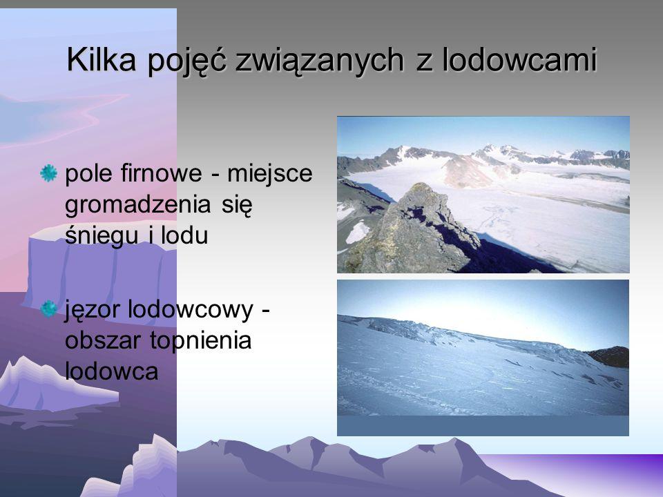 Kilka pojęć związanych z lodowcami