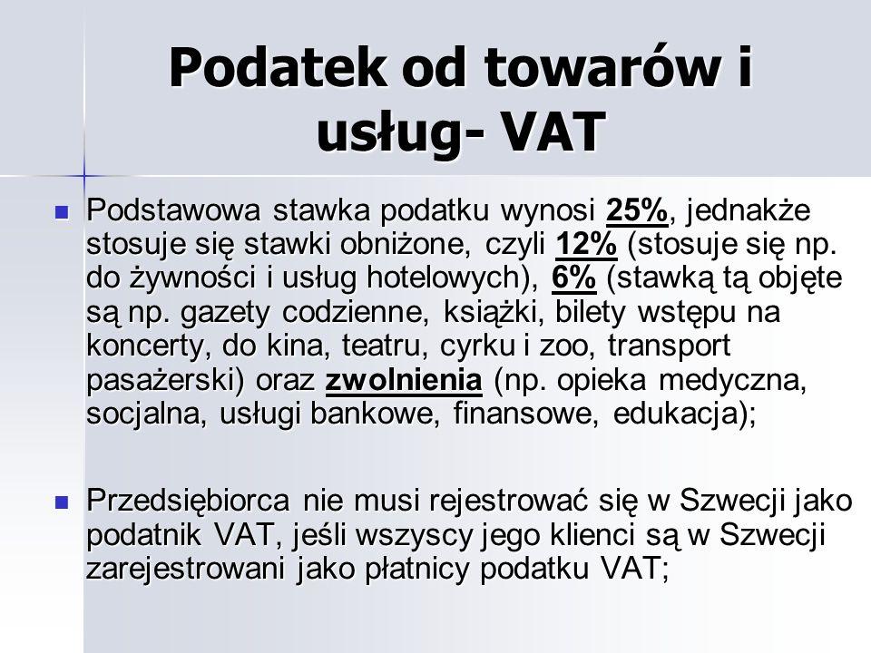 Podatek od towarów i usług- VAT