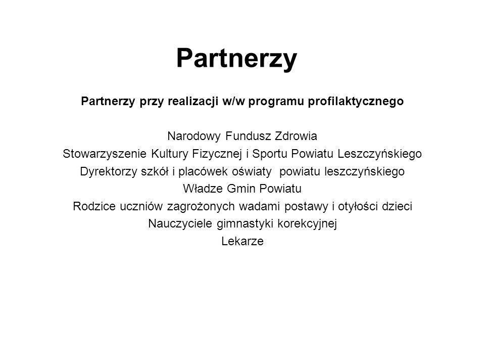 Partnerzy Partnerzy przy realizacji w/w programu profilaktycznego