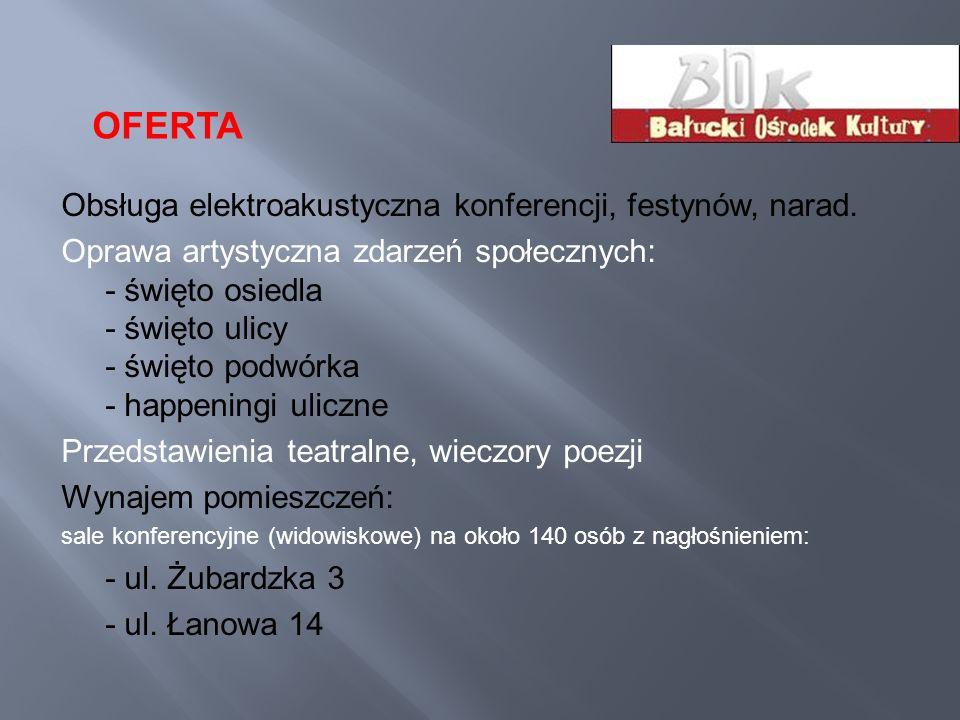 OFERTA Obsługa elektroakustyczna konferencji, festynów, narad.