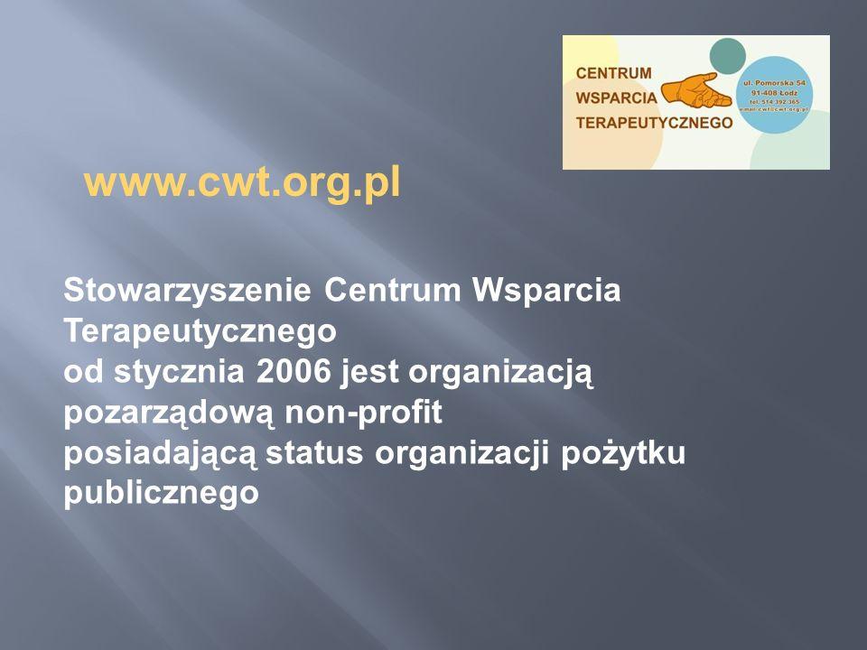 www.cwt.org.pl Stowarzyszenie Centrum Wsparcia Terapeutycznego