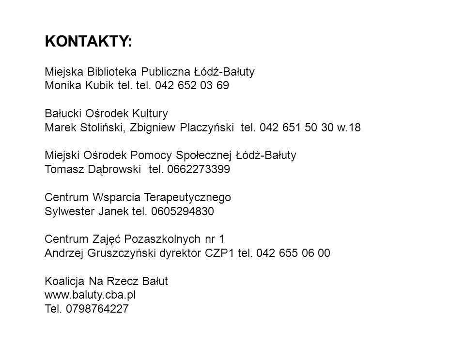 KONTAKTY: Miejska Biblioteka Publiczna Łódź-Bałuty