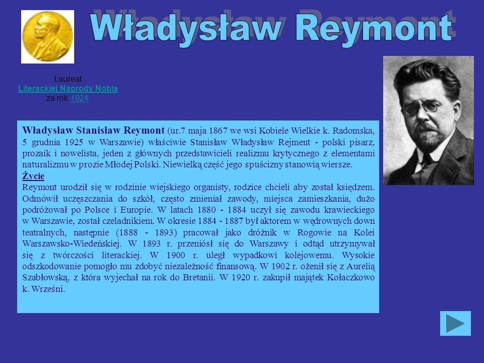 Laureat Literackiej Nagrody Nobla za rok 1924