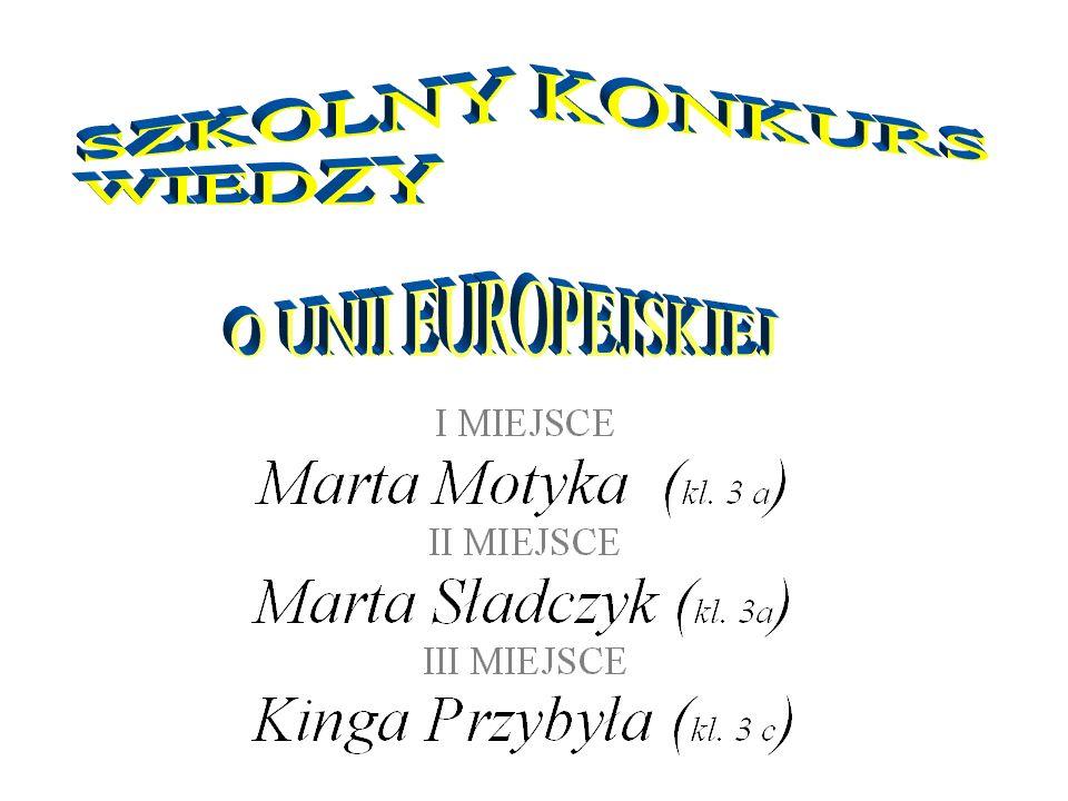 SZKOLNY KONKURS WIEDZY O UNII EUROPEJSKIEJ
