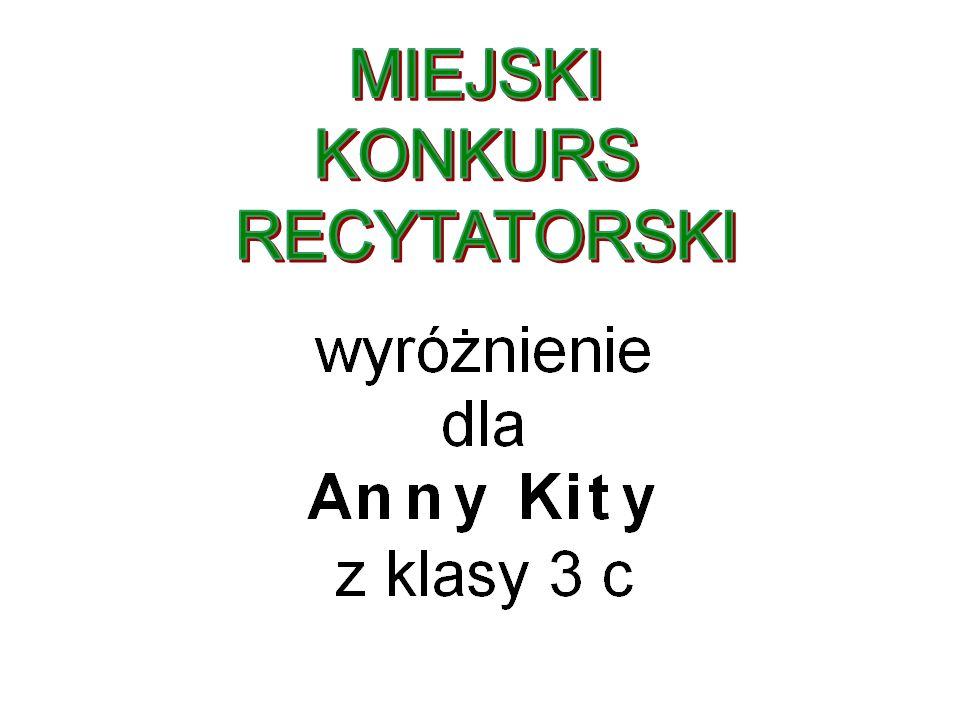 MIEJSKI KONKURS RECYTATORSKI