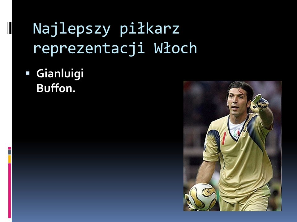 Najlepszy piłkarz reprezentacji Włoch