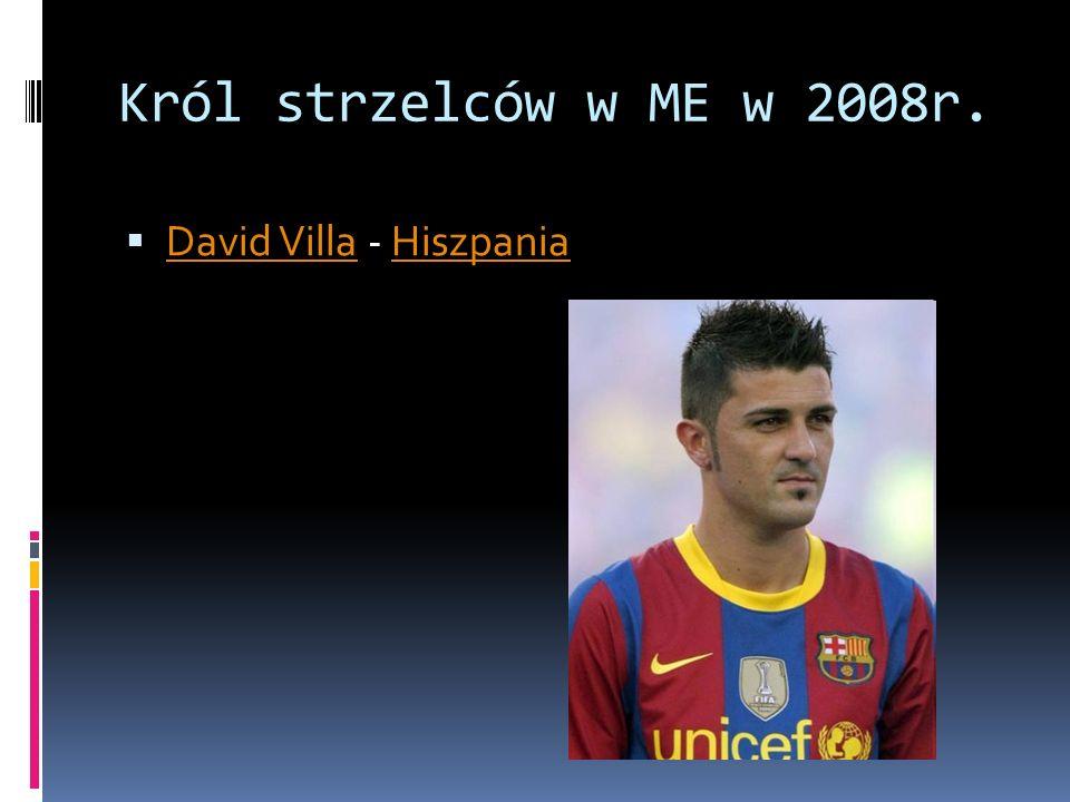 Król strzelców w ME w 2008r. David Villa - Hiszpania